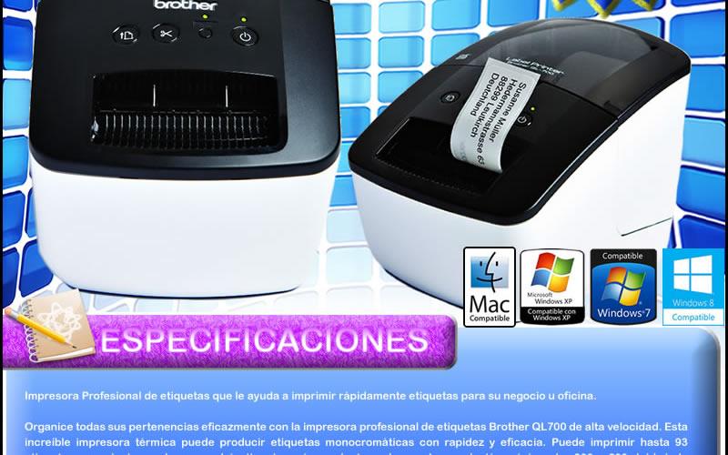 Impresora De Etiquetas Brother Ql700 Termica Codigo Barras