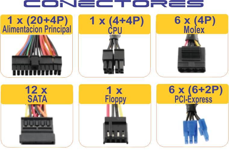 conectores fuente de poder lepa 1000w