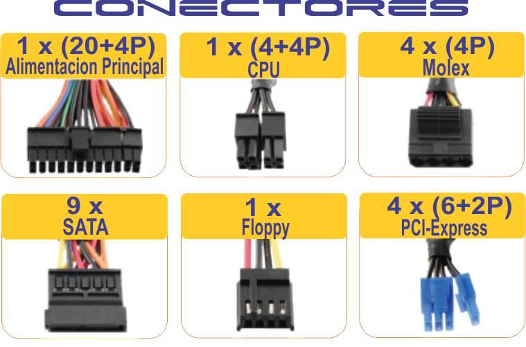 conectores fuente de poder lepa 700w