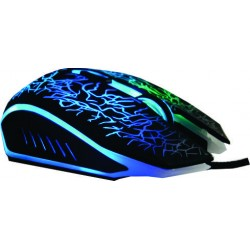 Mouse gamer 7 colores 2400dpi 6 botones USB optico ergonomico