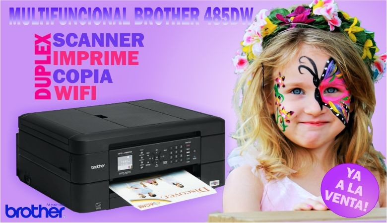 Multifuncional Brother MFC 485DW Impresora Scanner Copiadora Sistema de tinta