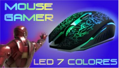 MOUSE GAMER LED 7 COLORES ERGONOMICO