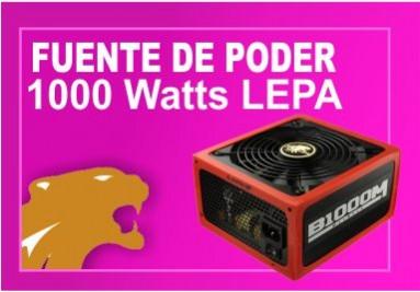 Fuente de poder 1000 watts lepa bronze